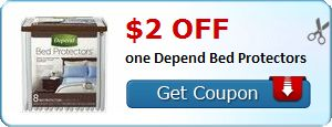 New Coupon!  $2.00 off one Depend Bed Protectors - http://www.stacyssavings.com/new-coupon-2-00-off-one-depend-bed-protectors-2/