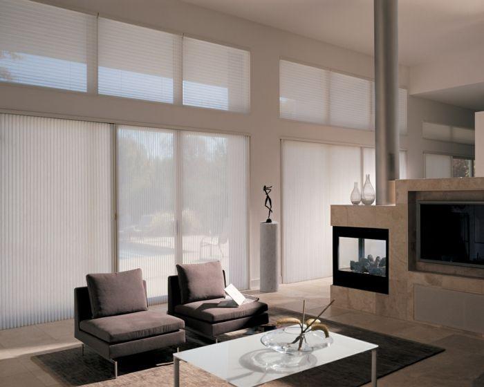 Fenster Sichtschutz Rollos Plissees Jalousien Oder Wohnzimmer Fenster Vorhange Fensterdekoration Moderne Wohnzimmer Vorhange