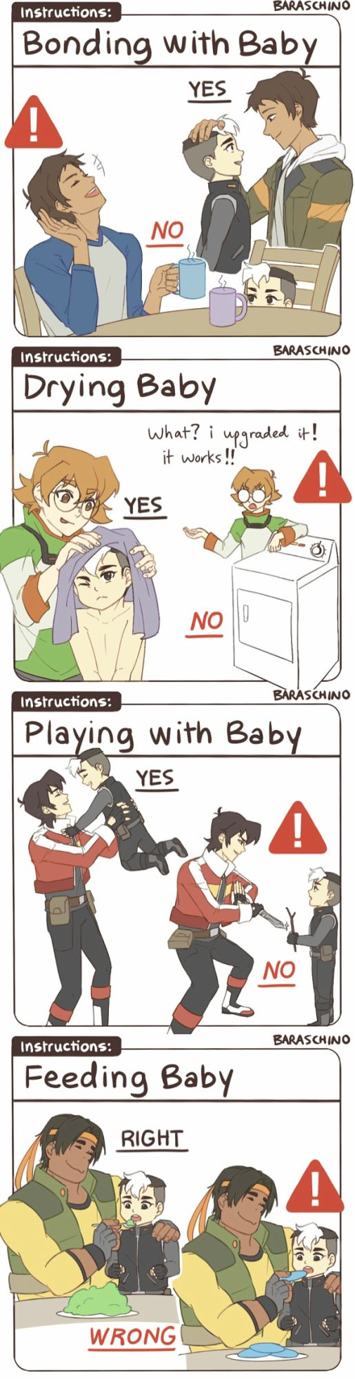 VLD fanart -Voltron: Legendary Defender 'the Do's and Don'ts of Child-rearing'