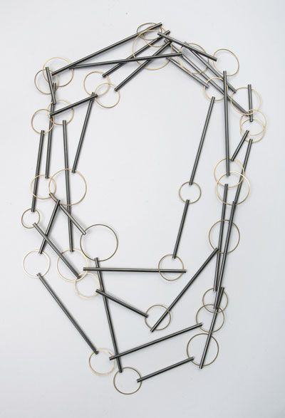 Claude Schmitz: Kette Amarello. necklace silver statement necklace