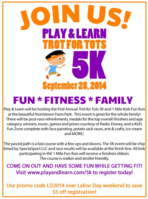 Invitation To Play Amp Learns Trot For Tots 5k And Kids Fun