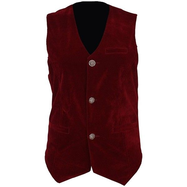 Mens Vest Waistcoat Gothic Steampunk Victorian ($39) ❤ liked on Polyvore featuring men's fashion, men's clothing, men's outerwear, men's vests, mens red vest, mens waistcoats, mens vest, mens steampunk vest and mens vest outerwear