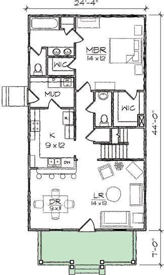 Beautiful Lake House Floor Plans Narrow Lot