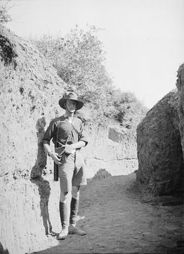 Charles Bean, Australia's official war correspondent at Gallipoli