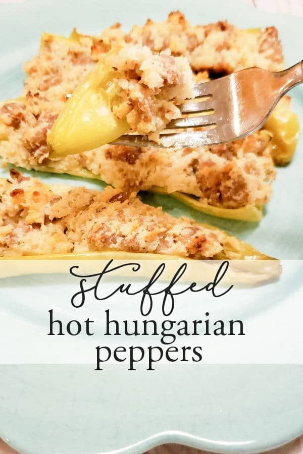 Stuffed Hungarian Hot Peppers Cool Bean Living In 2020 Stuffed Peppers Stuffed Hot Peppers Hot Pepper Recipes