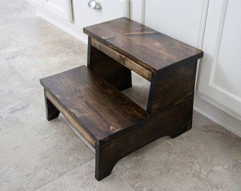 Rustic Step Stool, Wooden Step Stool, Foot Stool, Farmhouse Step Stool, Wood Step Stool, Rustic Foot Stool, Wood Foot Stool, Kid Step Stool