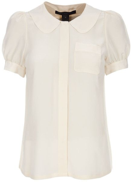 Marc By Marc Jacobs Peter Pan Collar Shirt in White (cream) - Lyst
