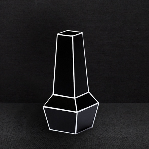 Phil Cuttance Black High Waisted Weld Vase