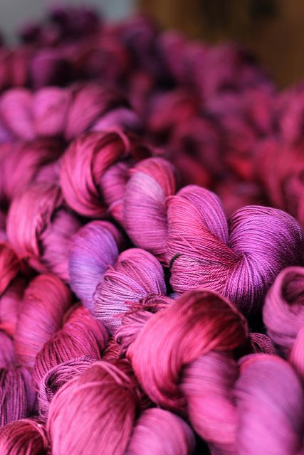 Boysenberry in Tanis Fiber Arts Silver Label 100% Mulberry Silk. Exclusive colourway for January 2013 Year in Colour Club.