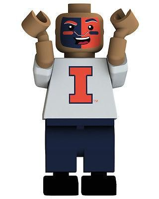 ILLINOIS FIGHTING ILLINI ULTIMATE FAN OYO MINIFIGURE BRAND NEW SHIPPING