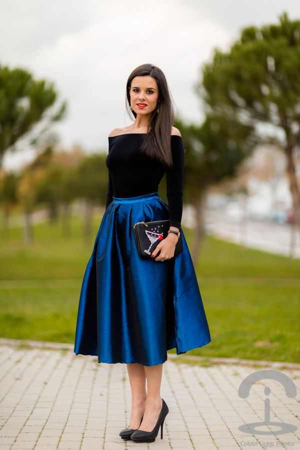 DIY Bolso de fiesta Party clutch Falda midi skirt Crimenes de la Moda