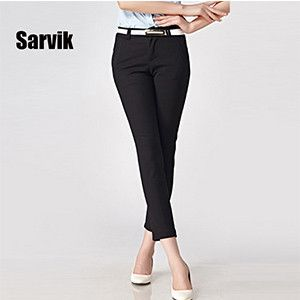 {Guoran} 2016 Summer New Women Office Work Pencil Pants White Black Khaki Beige Ladies Business Wear Trousers Female Fomal Pants