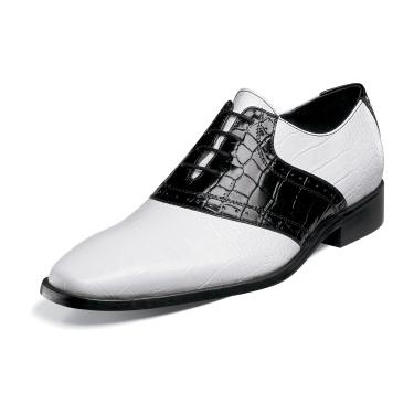 Stacy Adams Men's Cassius Black and White Lace up Dress Shoe 24728