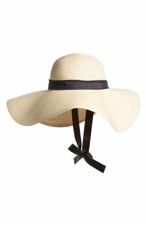 948eeb864a7a11 BP. Tie Neck Ribbon Floppy Straw Hat | hiking gear | Floppy straw ...