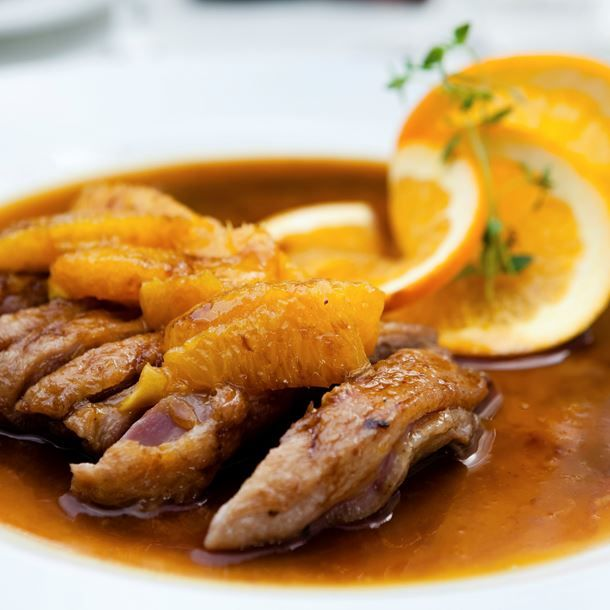 Magret de canard et sa sauce à l'orange