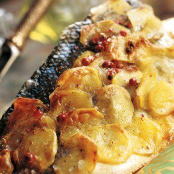 Bar en croûte de pommes de terre