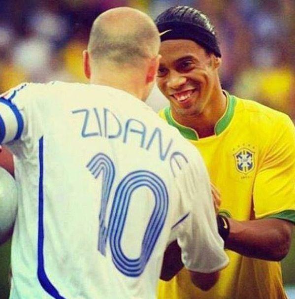 #Ronaldinho & #Zidane #legends #leyendas #France #Francia #Brasil #Brazil