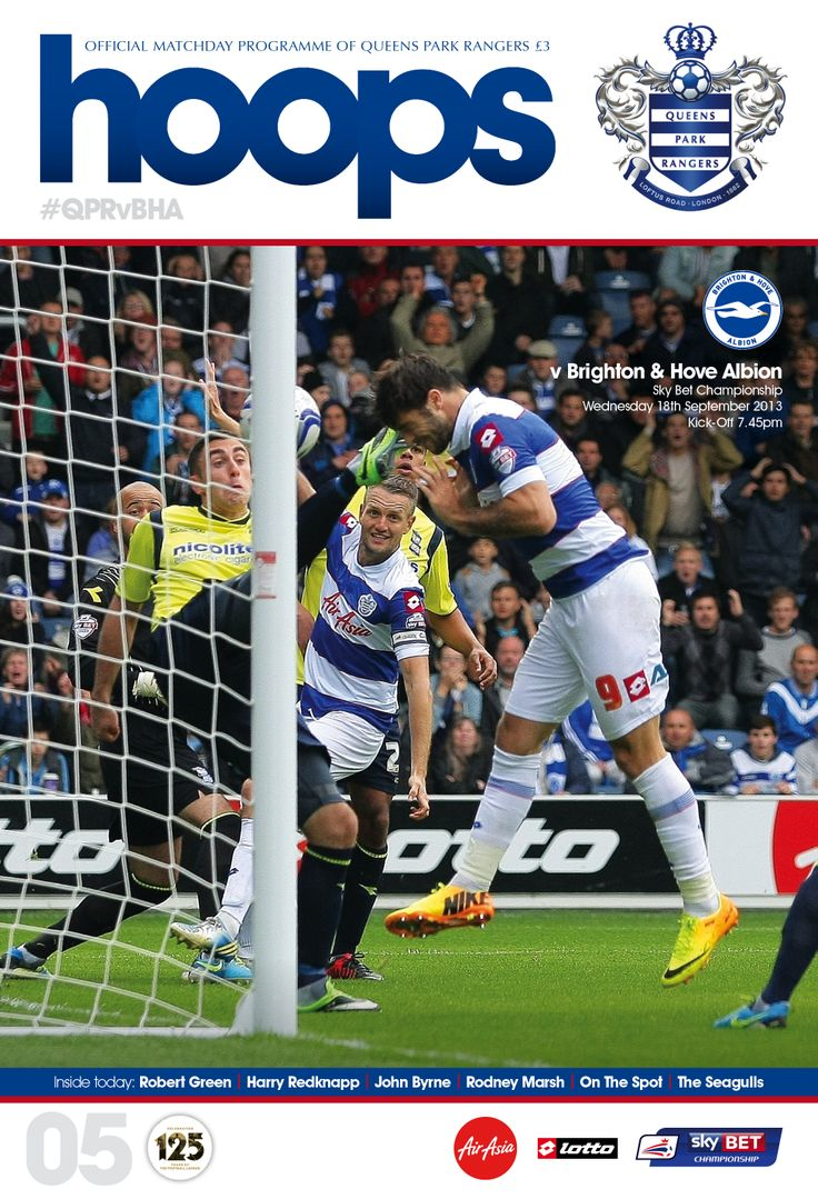 QPR v BRIGHTON: Charlie Austin's headed-winner against Birmingham took centre stage. Order your copy: www.qprhoops.bigcartel.com