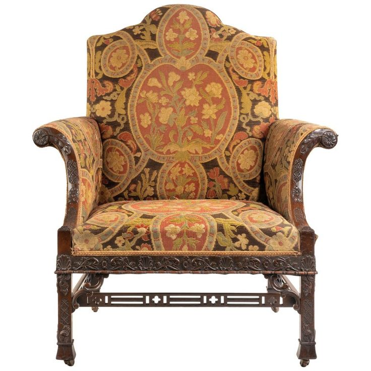 Late Victorian Oversized Armchair in the Chippendale ...