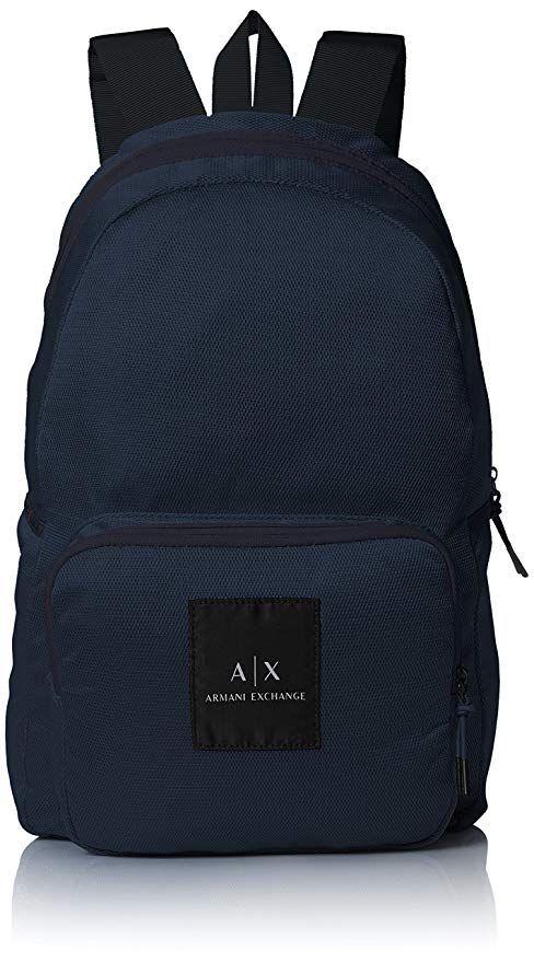 Affiliate  Armani Exchange Men s Mesh Backpack, Navy, TU   Designer ... f2a104b10f2