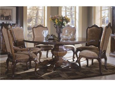 Universal Furniture Villa Cortina Round Table With Four Outside Leaves By Dining Rooms Outlet