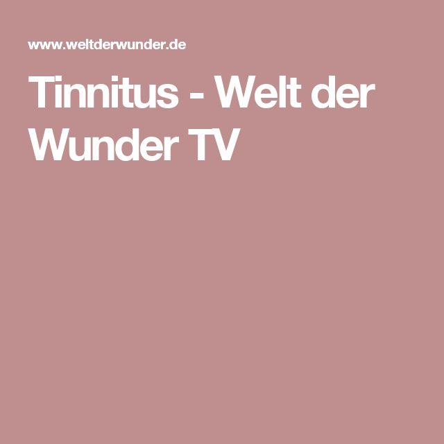 Tinnitus - Welt der Wunder TV-  Können Sie sich vorstellen, wie es ist ständig ein Geräusch im Ohr zu haben? Etwa drei Millionen Menschen in Deutschland leiden unter einem Tinnitus, betroffen sind auch immer mehr Jugendliche. Viele haben die Geräusche im Ohr schon in den Wahnsinn getrieben, darunter auch bekannte Persönlichkeiten...