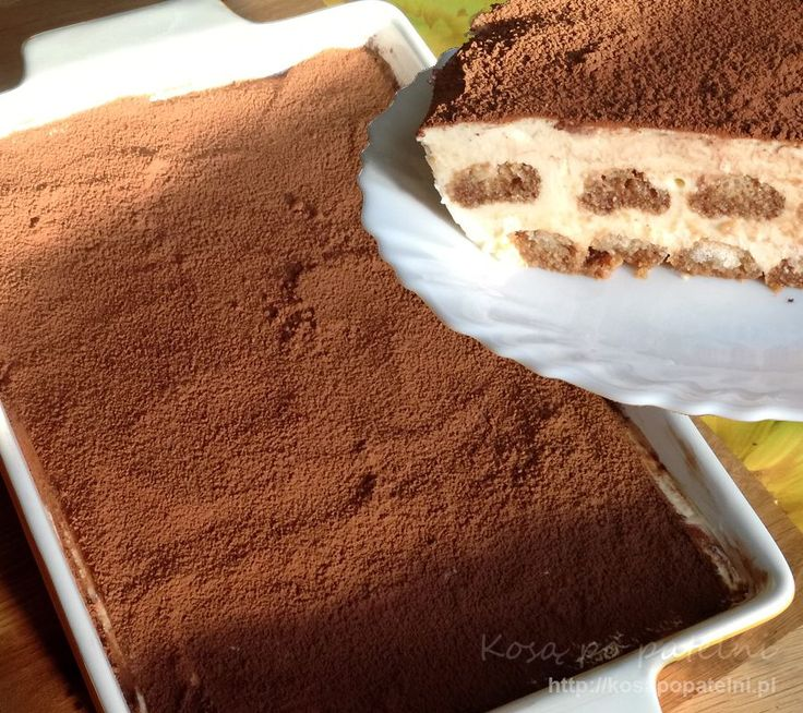 Pyszne ciasto bez pieczenia Tyrajmisiu czyli Tiramisu. Znacie pewnie doskonale ten smak bo sporo osób po nie sięga chcąc zrobić coś fajnego na przyjęcie. Mało pracy a efekt bardzo fajny. Odrobina alkoholu, kawa, i puszysta masa w połączeniu z kakao - mniam. Polecam potrzymać w lodówce minimum z 5 godzin. Można też zrobić to cisto …