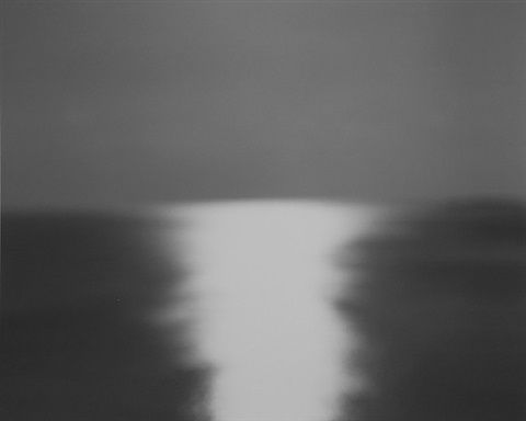 "HIROSHI SUGIMOTO (b.1948) ""Bay of Sagami, Atami, 1997"" Works: conceptual photography, light&shadow, ""Seascapes"", ""Theaters"""