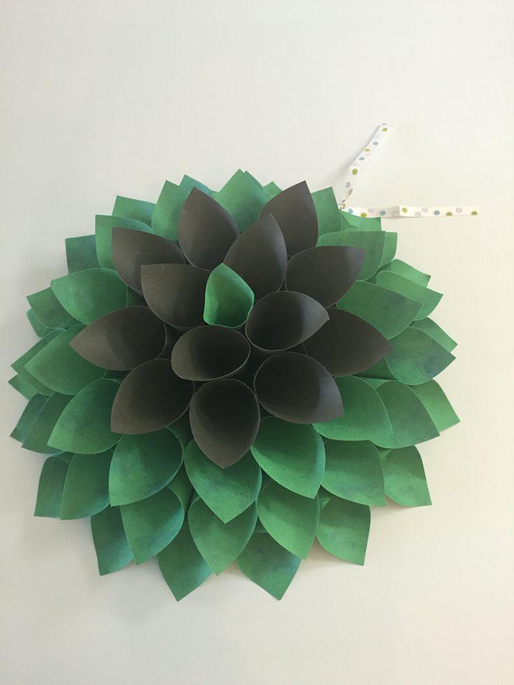 Paper Art: Texture Paper Dahlia, Wall Decor, Paper Dahlia, Paper Dahlia Wreath by ManiaArtCollection on Etsy