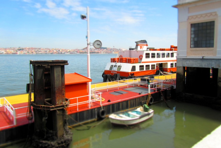 """#Portugal, our very typical but awesome ferry boat, called """"Cacilheiro"""" connects Lisbon to Cacilhas (Almada) on the south side of the Tagus River"""