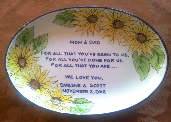Wedding Mother Of The Bride Gift Personalized To My Mom And Dad For