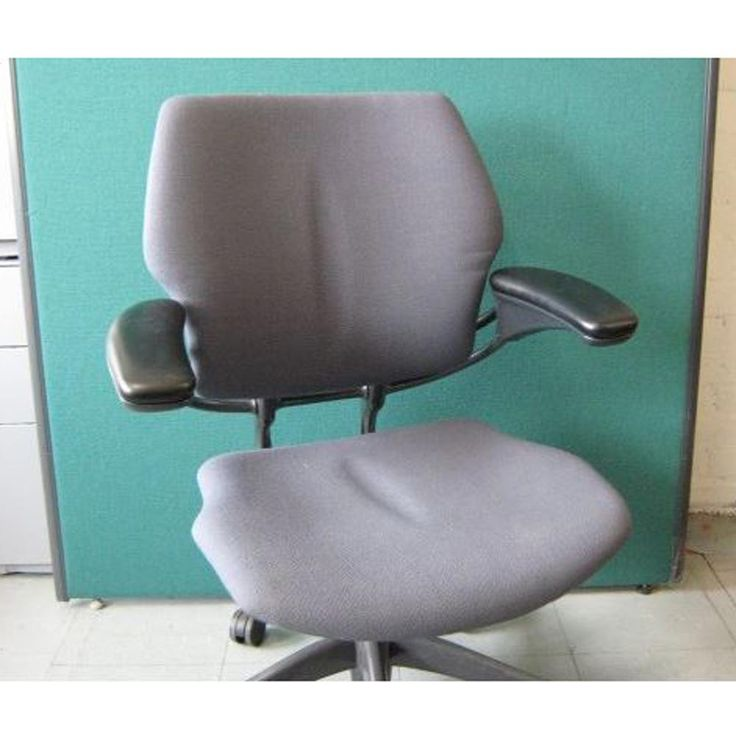 Second Hand Humanscale Freedom Task Chair - Grey | A highly adaptable, versatile ergonomic office chair, this Used Humanscale Freedom Task Chair has a clever design which allows the entire chair to move in tandem with your seated position, without the need for annoying levers or buttons!!