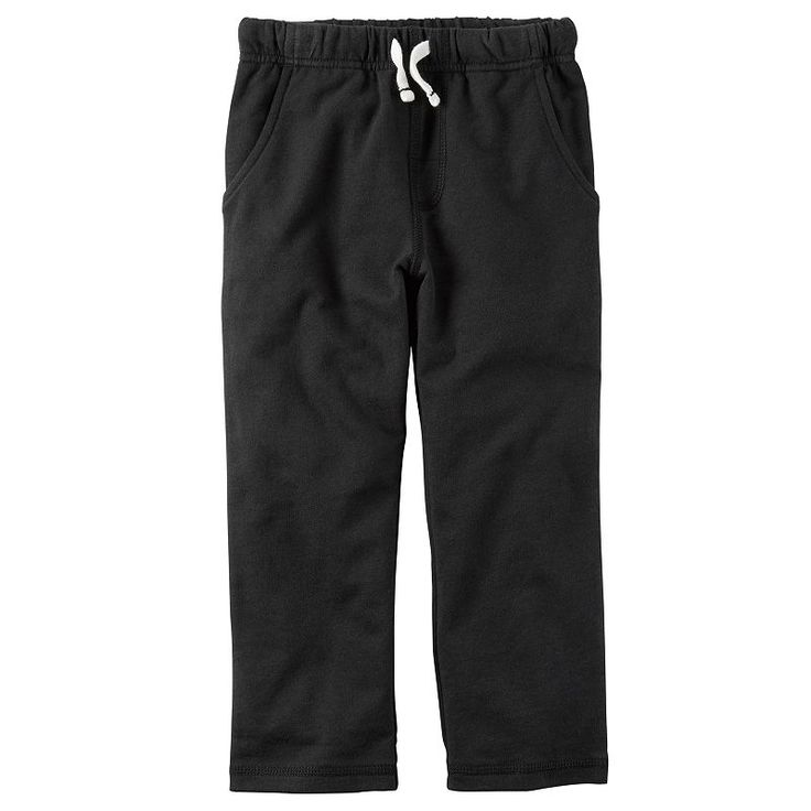 Baby Boy Carter's French Terry Pants, Size: 24 Months, Black