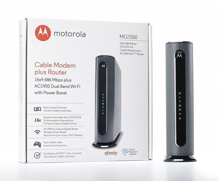Motorola Mg7550 Wifi Cable Modem Cable Modem Cable Modem Router