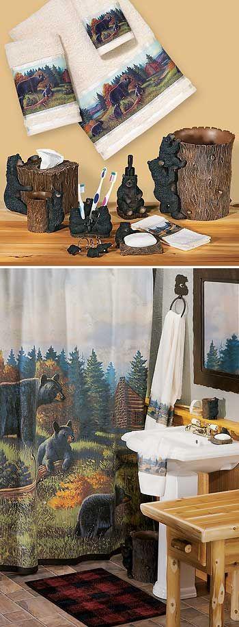 Black Bear Lodge Bath Accessories : Wild Wings