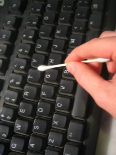 How to clean a computer keyboard--better than blowing the dust around