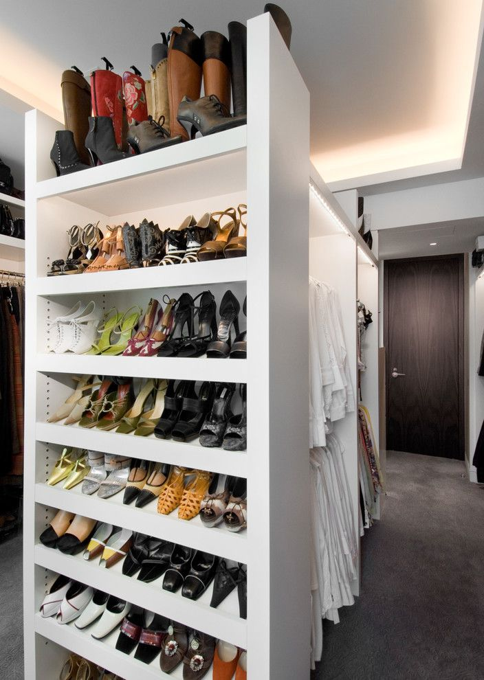 Beautiful Wood Shoe Rack method Other Metro Mediterranean Closet ...