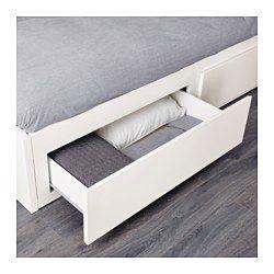 IKEA - FLEKKE, Tagesbett/2 Schubladen/2 Matratzen, weiß/Malfors fest, , Ein Möbel, vier Funktionen: Sitzplatz, Einzelbett, Doppelbett und 2 geräumige Schubladen.Der elastische Schaumstoff der Matratze ist sehr bequem und stützt den Körper gleichmäßig.