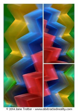 Abstract art to challenge your imagination. 'Cascade' - an abstract photograph created by Jane Trotter. Visit the website abstractedreality.com for the story behind the image. Fine Art Prints available. #abstract #art #photography #colour #triptych