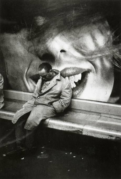Mario Dondero :: Homeless in the metro, Paris, 1963 / more [+] by this photographer