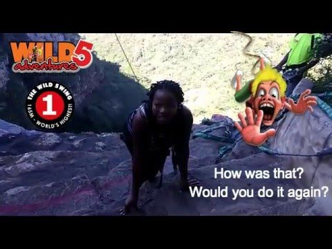 "Editor of the South Coast Fever jumps for charity!  Our second challenge has been completed! Vusi Mthalane, Editor from the South Coast Fever with his girlfriend Pinky Nsele took the #Wild5CharityChallenge by the horns by doing the #WildSwing on Sunday 1 May 2016. Situated at the top of Lehr's Waterfall in Oribi Gorge, this is the highest swing of its kind in the world. ""Had a blast today at Oribi, it was even more fun that I thought I was going to have!"" Vusi told Wild 5 Adventures.  Watch…"