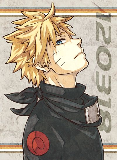 He looks good in black, actually Naruto