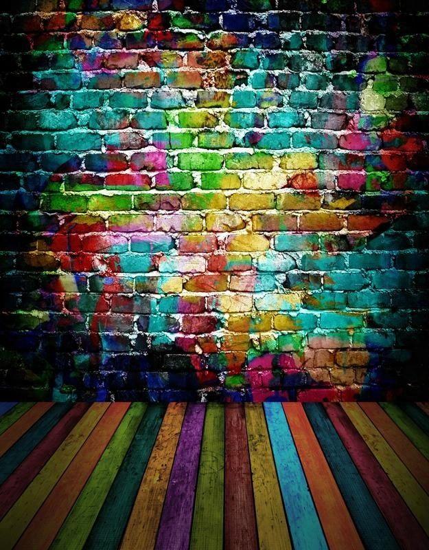 5x7ft الفينيل Mehofoto الطوب الجدار صورة خلفية سلس تجعد الحرة حار بيع الملونة الطوب أرضية خشبية التصوير صو Photography Backdrop Wedding Backdrop Wall Backdrops