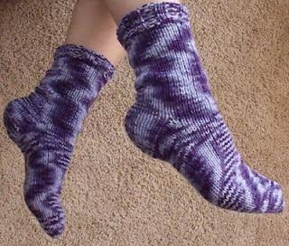 Funky and Fun Purple Knit Socks - Womens 8 - 9 - Ready to ...