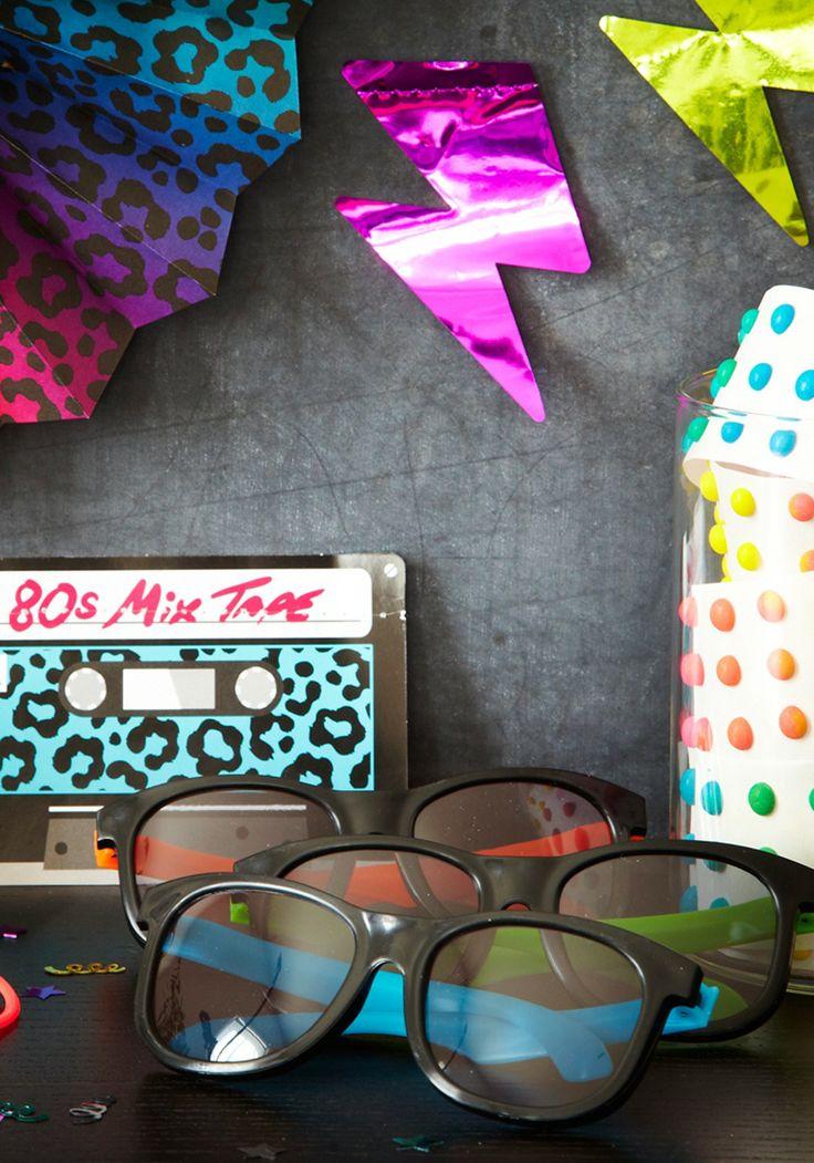Birthday party ideas: 80s themed. 80's themed birthday party ideas