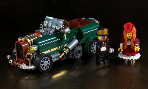 Steampunk car by LEGO DOU Moko http://flic.kr/p/FXiYiM