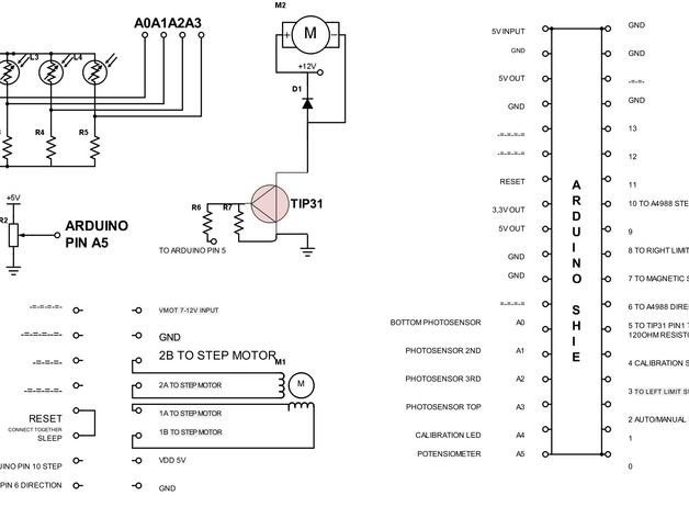 Filamake filament winder  Connection diagram
