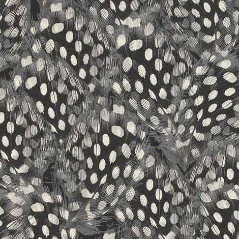 Feathers // Ebony fabric by willowlanetextiles on Spoonflower - custom fabric
