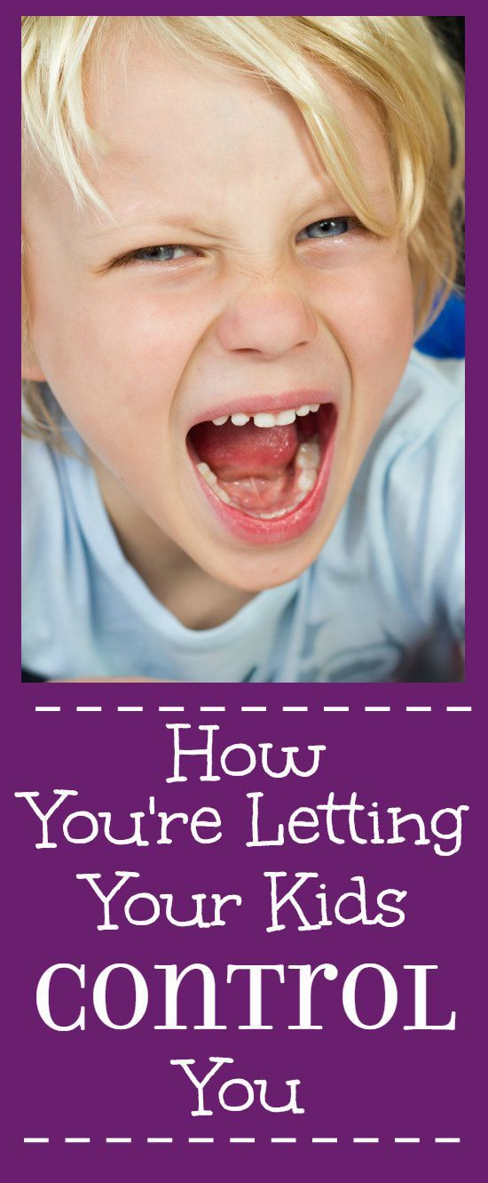 How You're Letting Your Kids Control You - What you're doing to show your kids that they have control over you and how to stop.   parenting tips   parenting advice