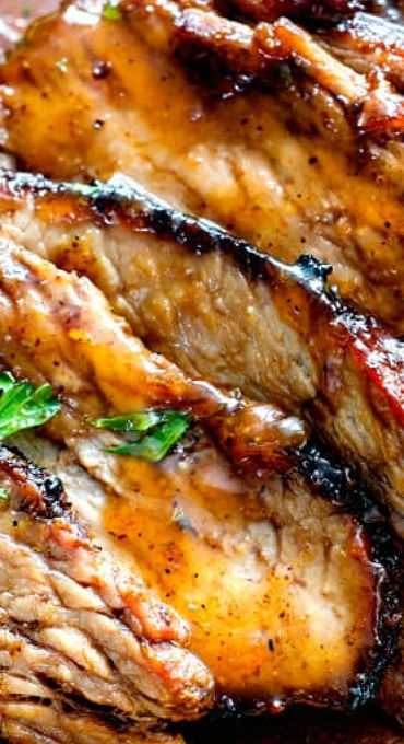 Cajun Steak with Apricot Orange Glaze